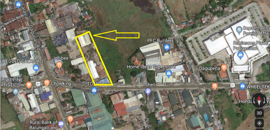 8,162 SQM Commercial Property in Calasiao, Pangasinan