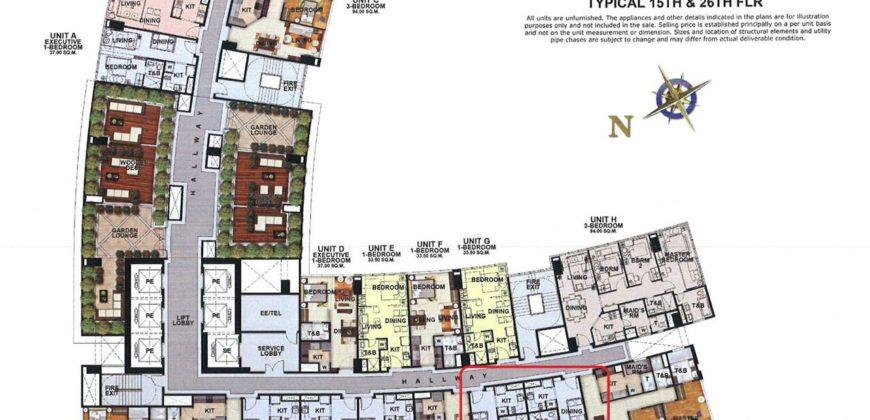 Rush Sale: 1 Bedroom Condo in Uptown Parksuites, BGC