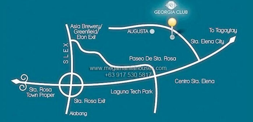 FOR SALE! 180 sqm Residential Lot in Georgia Club, Santa Rosa, Laguna